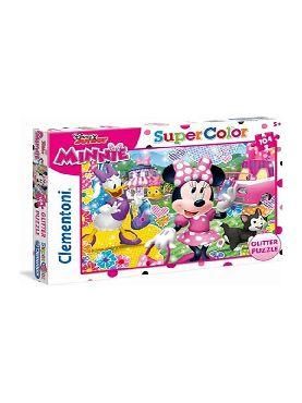 puzzle minnie disney 104 piezas purpurina