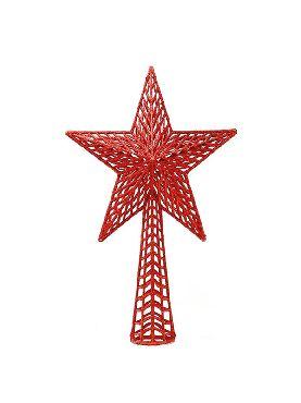 remate estrella de navidad rojo 27 cms