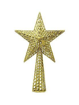remate estrella oro para arbol 27 cms