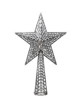 remate estrella para arbol plata 27 cms