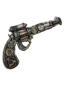 revolver steampunk con rodamientos de foam 31x18 cm