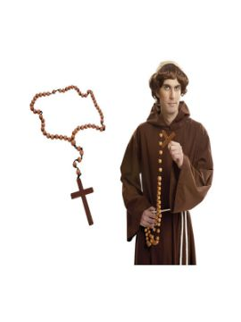 rosario de madera con cruz