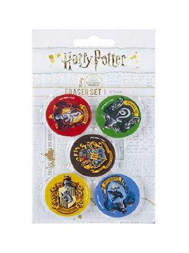 set de 5 borradores harry potter