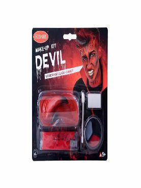 set de maquillaje demonio halloween