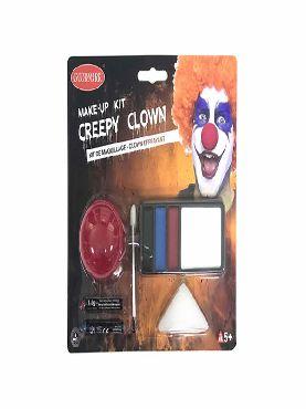 set de maquillaje payaso halloween