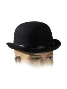 sombrero bombin lujo negro