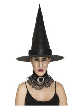 sombrero de bruja negro basico