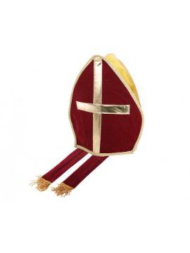 sombrero de obispo adulto