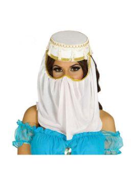 sombrero de princesa arabe blanco adulto