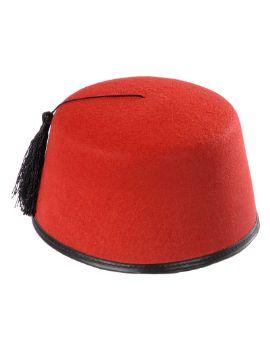 sombrero de turco rojo
