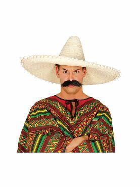 sombrero mexicano paja 60 cms adulto