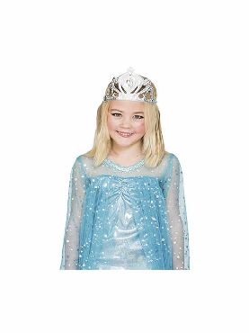 tiara de reina plateada para niña