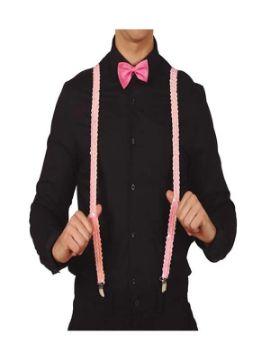 tirantes de lentejuelas rosa adulto