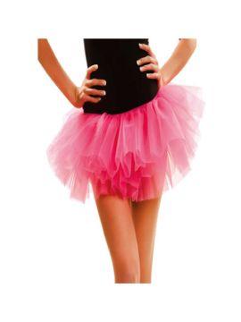 tutu 3 capas corto rosa