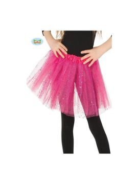 tutu de brillantes rosa 30 cms infantil