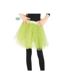 tutu de brillantes verde 30 cms infantil