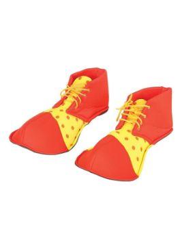 zapatos payaso rojos y amarillos 36 cms