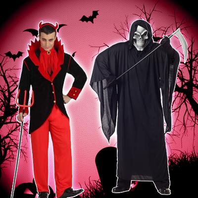 Disfraces de diablos y muerte adultos