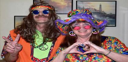 Disfraces hippies y años 60, 70 y los 80