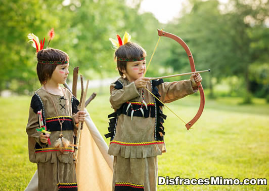 disfraces de indios y vaqueros infantiles