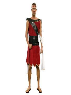 disfraz de guerrero o gladiador hombre adulto. Este traje de guerrero del ejército de Roma es ideal para Carnaval, Ferias Históricas, Eventos Temáticos de Disfraces.Este disfraz es ideal para tus fiestas temáticas de disfraces de guerreros y arabes, romanos  y egipcios para hombre adultos.