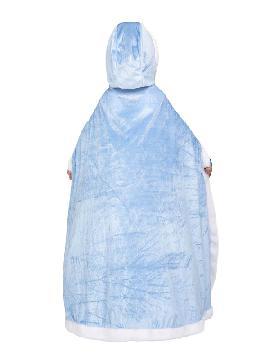 capa azul princesa para niña