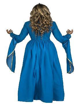 disfraz de princesa medieval azul mujer