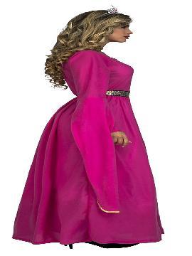 disfraz de princesa medieval rosa mujer