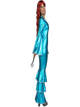disfraz de disco turquesa para mujer