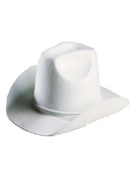 sombrero vaquero fieltro blanco
