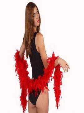 boa roja de plumas 45 gr