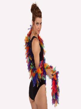 boa multicolor con plumas 45 gr
