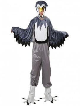 disfraz de buho gris hombre adulto.Deslumbra con su mono con alas y su gorro con pico en tus Fiestas Temáticas de Disfraces, Espectáculos o Carnaval.Este disfraz es ideal para tus fiestas temáticas de disfraces de animales para hombre adultos
