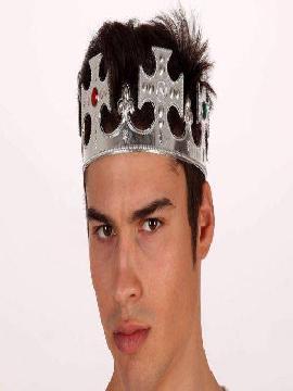corona de rey dorada con brillantes