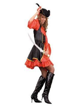 disfraz de corsaria pirata mujer. Con este traje revivirás las batallas en alta mar, la búsqueda de tesoros y causarás furor en Carnaval.Este disfraz es ideal para tus fiestas temáticas de disfraces piratas, bucaneros y corsarios de mujer adultos.