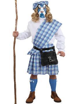 Disfraz de braveheart escoces para hombre