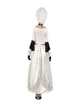 disfraz de dama epoca veneciana blanco mujer