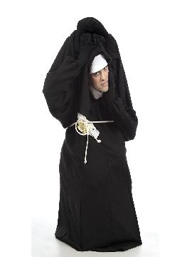 disfraz de monja perdiendo la cabeza