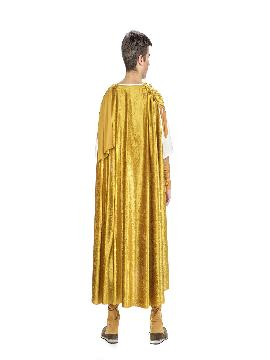 disfraz de emperador romano dorado hombre