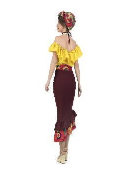 disfraz de cubana amarillo para mujer