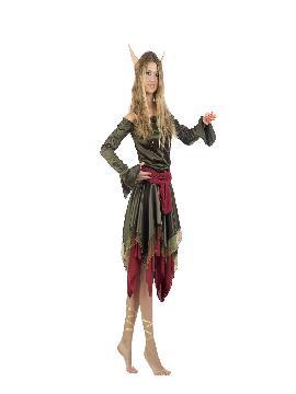 disfraz de elfa deluxe mujer