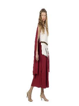 disfraz de noble romana con flecos mujer