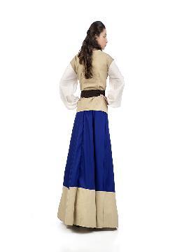 disfraz de campesina medieval justa mujer