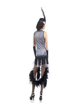 disfraz de cabaret deluxe mujer