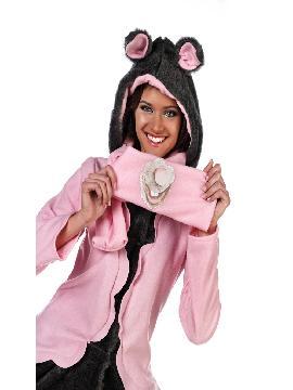 disfraz de ratita abrigo deluxe mujer