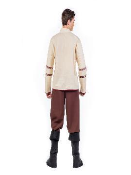 disfraz de medieval beig para hombre