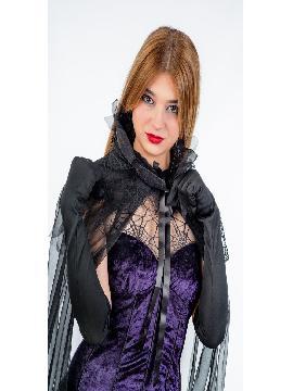 disfraz de vampira lila deluxe mujer