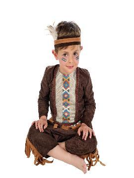 disfraz de indio deluxe bebe