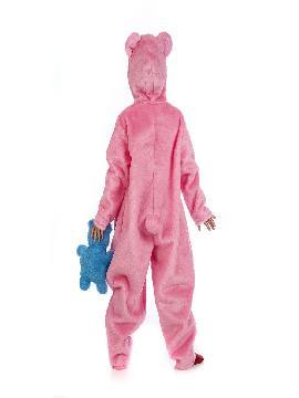 disfraz de oso amoroso rosa niña