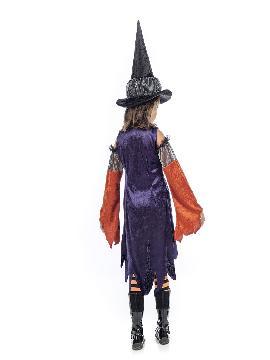 disfraz de bruja caldera niña